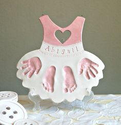 Personalized baby keepsake gift handprint print love decor personalized baby keepsake gift for baby and by thebabyhandprintco negle Gallery