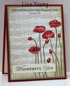 Add Ink and Stamp: Music and Poppies