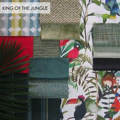 King of the Jungle. Stuart Graham, Mood Boards, Textiles, King, Quilts, Fabric, Inspiration, Style, Tejido
