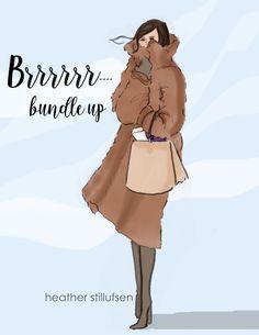 Bundle Up...Teddy Bear coat. Heather Stillufsen