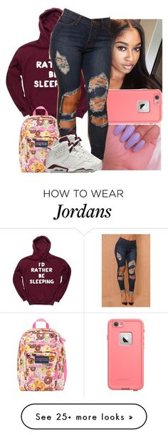 """today's vibes"" by naebreezy on Polyvore featuring JanSport, LifeProof, NIKE, women's clothing, women, female, woman, misses and juniors"