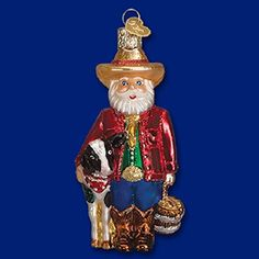 Old World Christmas Rancher Santa Ornament. #Christmas #NewYear #Ornament #Decor #giftidea #Gift #gosstudio .★ We recommend Gift Shop: http://www.zazzle.com/vintagestylestudio ★