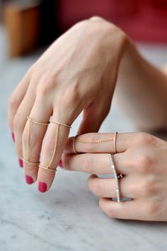 Chain Knuckle Rings I Double-Decker #ring #trend