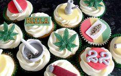 Marijuana Cakes Phillips-Barton Phillips-Barton Cluff Kaylee said she wants these. Fondant Cakes, Cupcake Cakes, Liquor Cake, Funny Birthday Cakes, Happy Birthday, Love Cake, Party Cakes, Theme Cakes, Cakes And More