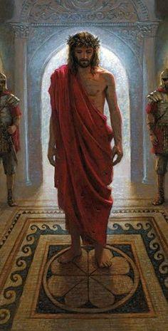 Jesús ante el sanedrín.