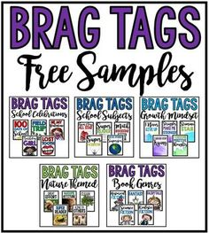 Brag Tags: Free Samples This 13 Page Free Sample Brag Tag Assortment contains a variety of different Brag Tags to use for positive reinforcement! They are a great way to celebrate student success and a great behavior Behavior Cards, Behavior Plans, Behavior Management, Classroom Management, Class Management, Classroom Rewards, Classroom Discipline, School Classroom, Classroom Decor