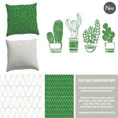 Cactus pattern and geometric fun for your home. Natasha Marshall blog