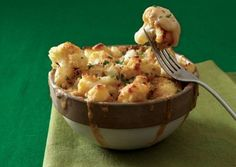 Cauliflower Mac and Cheese. Yumm, I've been craving mac and cheese for forever now.