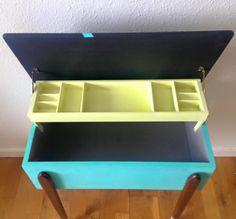 Indret med hjertet har malet dette fine retro sybord
