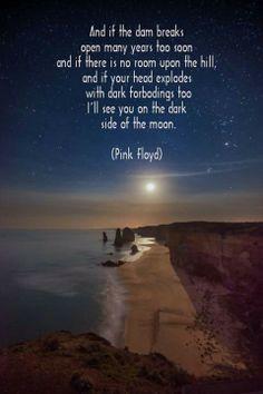 Brain damage- dark side of the moon album Lyric Art, Music Lyrics, Music Quotes, Song Quotes, Music Songs, Poetry Quotes, Pink Floyd Lyrics, Pink Floyd Art, Music Love