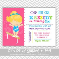 Another cute gymnastic invitation