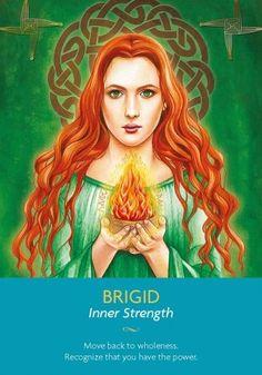 A gorgeous image of Goddess Brigid.