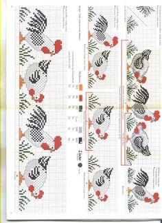 Gallery.ru / Фото #7 - Rico 11 - superpopina Chicken Cross Stitch, Cross Stitch Bird, Cross Stitch Borders, Cross Stitch Charts, Counted Cross Stitch Patterns, Cross Stitch Designs, Cross Stitching, Cross Stitch Embroidery, Embroidery Patterns