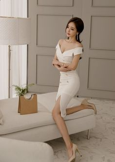Casual Spring Work Outfits Ideas for Women Classy Dress, Classy Outfits, Stylish Outfits, Cool Outfits, Ulzzang Fashion, Korean Fashion, Slim Fit Dresses, Short Dresses, Spring Work Outfits
