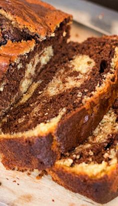 Super moist and quick to make chocolate orange marble cake Chocolate Marble Cake, Chocolate Butter Cake, Chocolate Orange, Homemade Chocolate, Marble Cake Recipes, Pound Cake Recipes, Dessert Recipes, Loaf Recipes, Eggless Baking