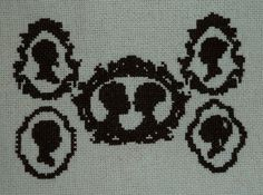 silhouette cross stitch over one
