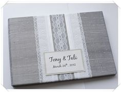 DIY guestbook cover..Deb we could cover with burlap