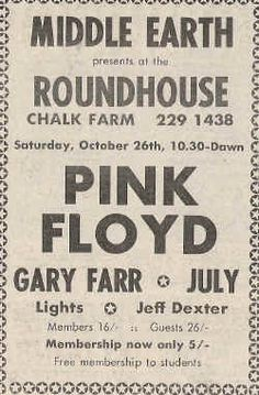 Middle Earth at the Roundhouse, London, 26 October 1968