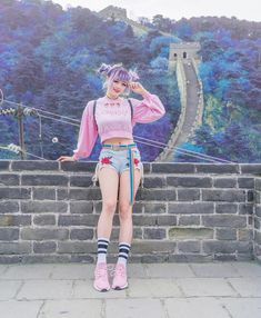 Happy Friday everyone! XD How's your summer vacation? I post some story of my family, ppl think my mom is my sister haha 🤣 Pastel Goth Fashion, Kawaii Fashion, Cute Fashion, Girl Fashion, Fashion Outfits, Fashion Design, Fashion Ideas, Korean Fashion Trends, Japanese Street Fashion