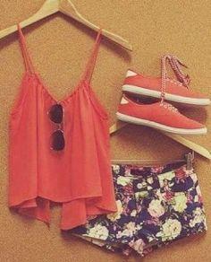 summer outfits - Kayleigh: def.  Just got these exact shorts (high waist) at Ross