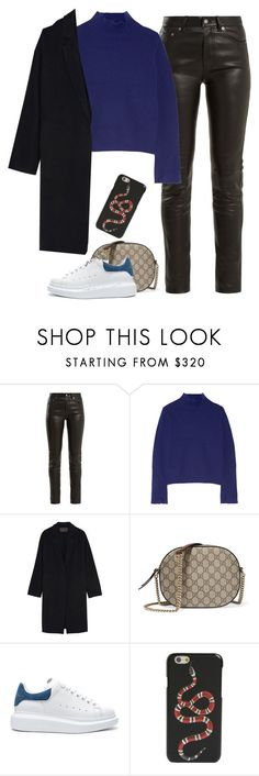 """""""Untitled #958"""" by khalesse ❤ liked on Polyvore featuring Yves Saint Laurent, Proenza Schouler, Donna Karan, Gucci and Alexander McQueen"""