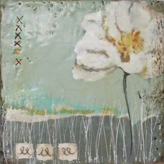 i love how this one shows the texture of encaustic painting ~Stephanie Lee encaustic painting