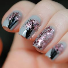 Shellac Manicure Ideas | Spring Nail Art - Cherry Blossoms
