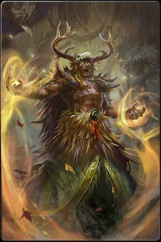 The power of druids strictly relates to nature. Their capabilities are focused on multi-target attacks, de-buffing, and battlefield control.