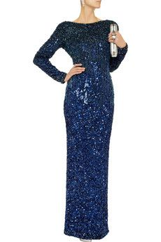 Couture embellished jersey gown by Badgley Mischka