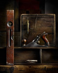 a still life of old tools...  Old tools -★- home -★- decor