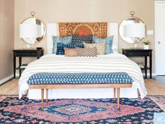 Before and After: A Perfectly California Eclectic Bedroom: Designer Amber Lewis gives a Canadian couple the West Coast look in their new master suite. via @domainehome