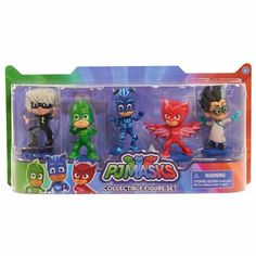 Bring the adventures of PJ Masks home with the PJ Masks Collectible Figure Pack! This deluxe pack of PJ Masks three-inch figures features Catboy, Owlette, Gekko, Luna Girl and Romeo in dynamic action poses. Perfect for play and display! Pj Masks Birthday Cake, 3rd Birthday, Birthday Ideas, Turtle Birthday, Turtle Party, Carnival Birthday, Birthday Parties, Pj Masks Games, Pj Mask Party Decorations