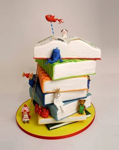 Adorable storybook cake
