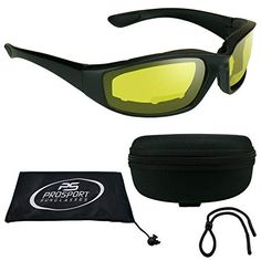 c2ab2461734 Buy ANSI Motorcycle Bifocal Glasses Night foam padded for Men and Women -  Free Hard Case and Sunglass Strap