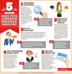 5 Tips to Make Your LinkedIn Profile Irresistible #Infographic