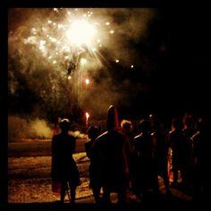 Concordia College Homecoming 2011: Bonfire & Fireworks at Jake Christiansen Stadium in Moorhead, Minn. #cordmn #homecoming #college #tradition
