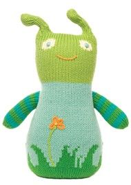 """Peeko"" the boogaloo by bla bla - hand-knit in Peru and available at babyworks!"