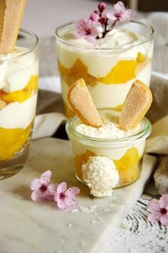 Schnelles Mango-Tiramisu (ohne Ei)