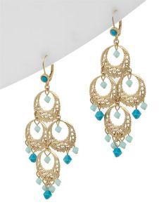 Liz Palacios Plated Crystal Earrings