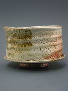 Wood Fired Chawan iron rich stoneware with by Shawn McGuire. Cazenovia, NY, United States