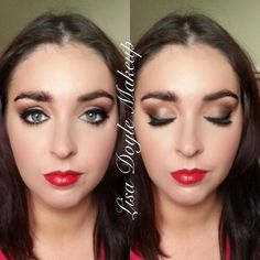 Smokey eye with red lip #macrubywoo
