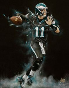e4a3e607806 Philadelphia Eagles Carson Wentz Art Print Carson Wentz Philadelphia Eagles  Football, Philadelphia Sports, Philadelphia