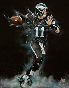 Philadelphia Eagles Carson Wentz Art Print Carson Wentz Philadelphia Eagles  Football 38ba701d1
