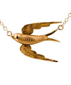 Pretty swallow necklace...love.