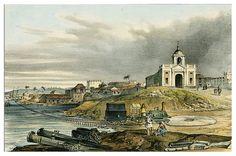 007-Iglesia y camino de Hierro de de Regla-Isla de Cuba Pintoresca-1839- Frédéric Mialhe- University of Miami Libraries Digital Collections