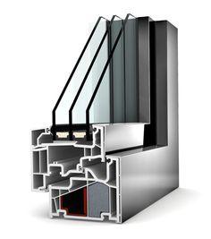 Okno PCV Internorm Home Pure KF 410. Izolacyjność cieplna do 0,62 W/m²K.