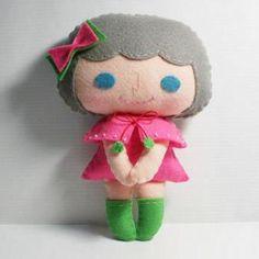 Ceci Menina - Padrão de boneca, sentiu boneca, PDF