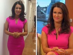 SUSANNA REID'S hot pink dress went down a storm with Good Morning Britain fans this morning.