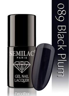 Semilac 089 Black Plum UV&LED Nagellack. Auch ohne Nagelstudio bis zu 3 WOCHEN perfekte Nägel!