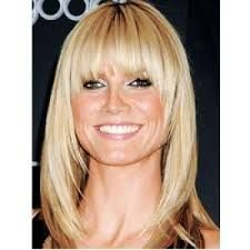 medium length hairstyles for fine hair with bangs - Google Search